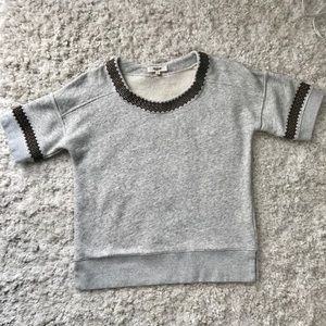 Madewell Sweater with Neck & Sleeve Embellishment